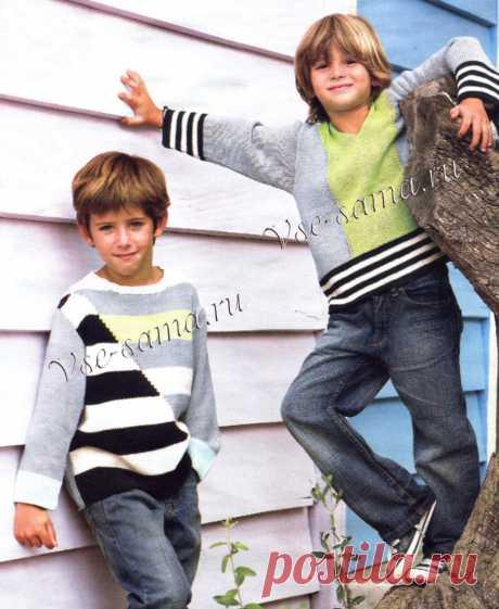 Задорные дорожки - джемпер, пуловер - Детские пуловеры, свитера, джемпера спицами