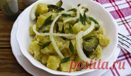 Немецкий картофельный салат - отличная замена гарниру! Всего 3 ингредиента!