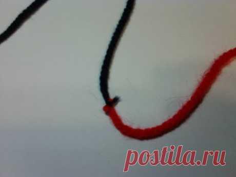 Узел, который не развязывается.  A node that does not untie.  Knitting