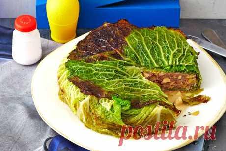 Пирог из савойской капусты — Кулинарная книга - рецепты с фото