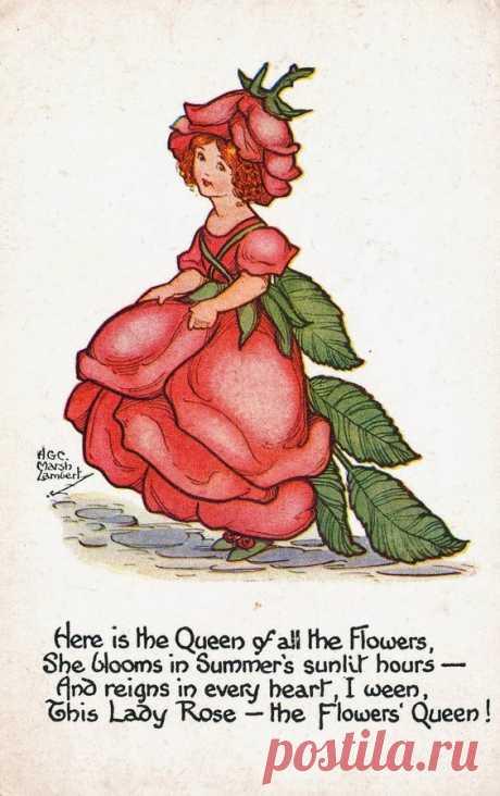 Un articolo di Dindi Gracie è la seconda da sinistra. Di questa prolifica illustratrice di libri per bambini e cartoline, ho trovato in internet moltissime illustrazioni, quasi tutte su…