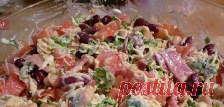 Салат «Обжорка». Простой салат в приготовлении, без всяких изысков, но всегда идет на ура