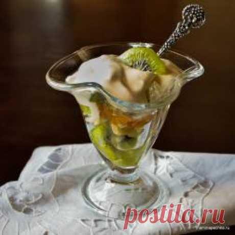 Фруктовый салат с зефирным кремом - пошаговый фото-рецепт