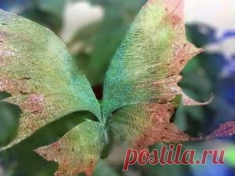 Видео мастер-класс: создаем из органзы крылышки для бабочки, феи или эльфа - Ярмарка Мастеров - ручная работа, handmade