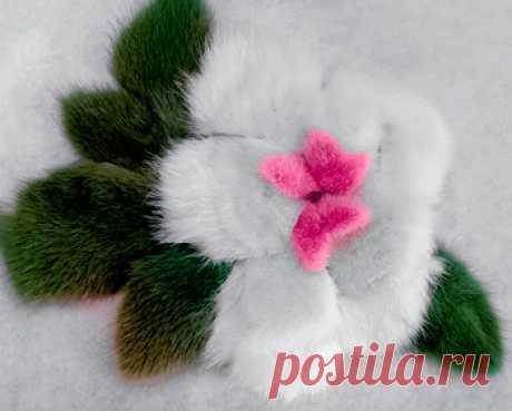 Цветок из меха норки | Выкройки одежды на pokroyka.ru