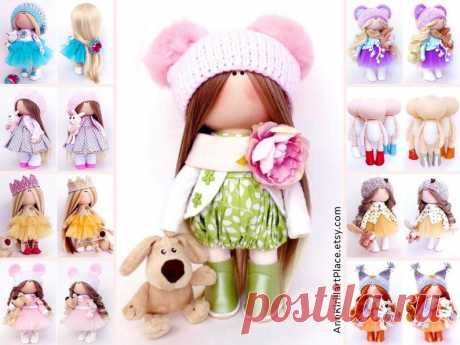 Handmade Decor Doll Interior Rag Doll Fabric Baby Doll | Etsy