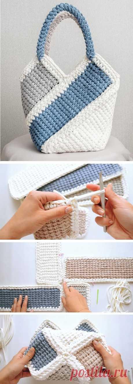 Довольно сумка для вязания крючком - Design Peak