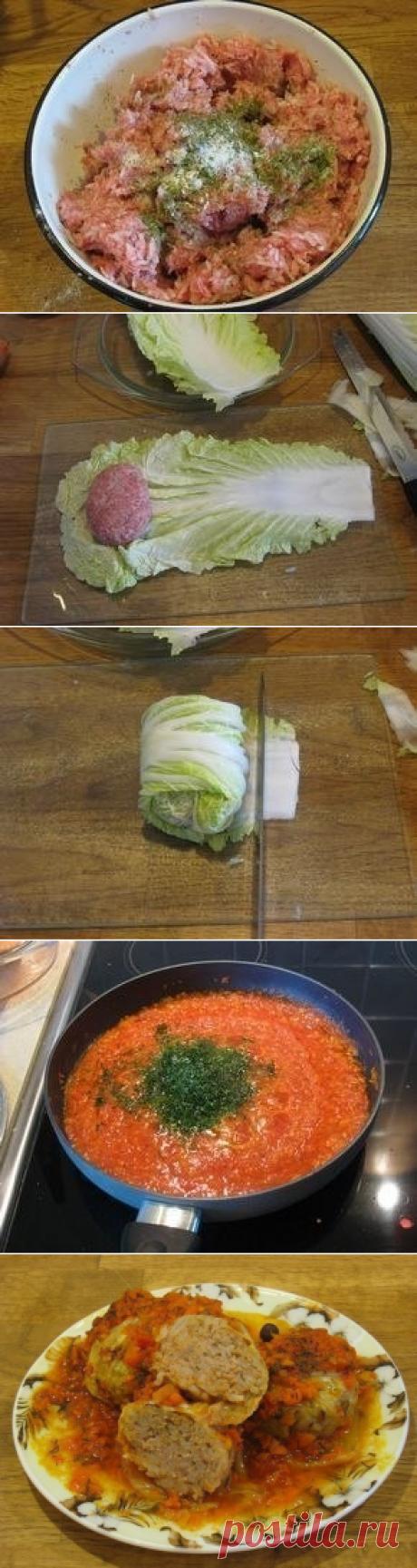 Как приготовить голубцы из пекинской капусты в духовке - рецепт, ингредиенты и фотографии