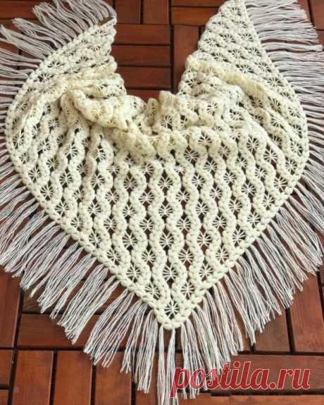 Ажурные шали с замечательными узорами — DIYIdeas