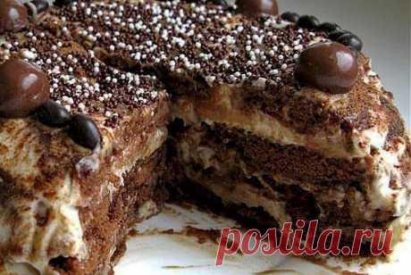Пряничный торт (без выпечки)!