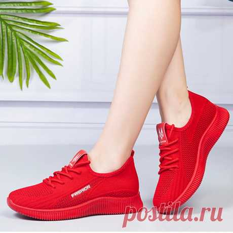 Women Breathable Lace Up Lightweight Casual Sport Shoes - US$24.99
