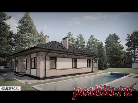 Проект одноэтажного дома со скатной крышей VALMA-001-NV