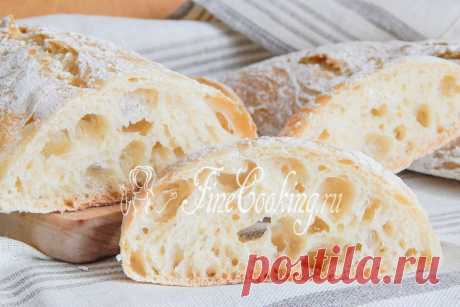 El pan italiano chiabatta Y tengo prisa alegrarle de nuevo por la receta simple del pan – prepararemos chiabattu en las condiciones de casa.