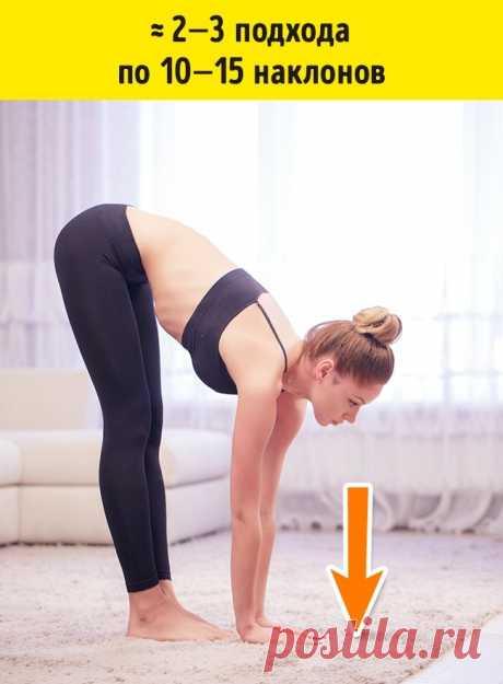 7 эффективных упражнений от складок на спине и боках. Пора избавляться от того, что отложилось за зиму ?