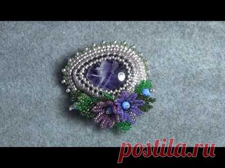 Beaded Embroidery Brooch Process