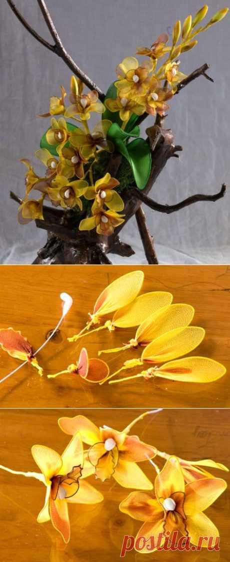 (+1) тема - Цветы из шифона | Очумелые ручки