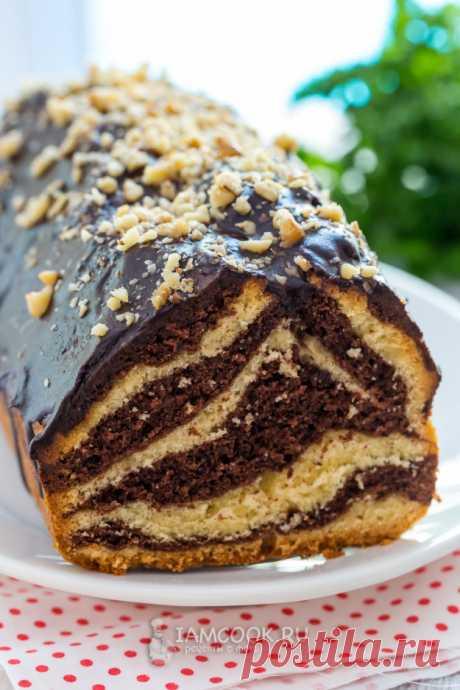 Кекс «Зебра» с крахмалом — рецепт с фото пошагово