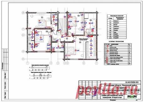 Проект электрики дома пример 541