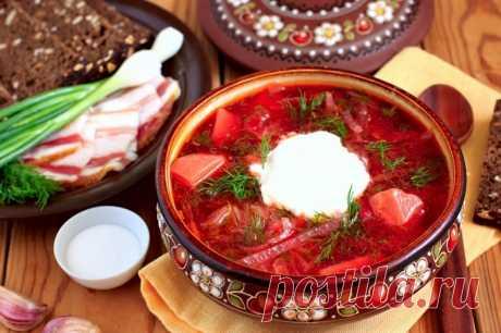 Украинский борщ: наваристое и очень вкусное первое блюдо