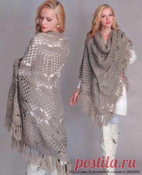 Чудесные узоры для прекрасных шалей или ажурных шарфов — HandMade