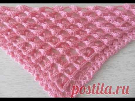 """Узор для шали, бактуса -3 """"D"""", вязание крючком,crochet shawl (шаль № 127)"""