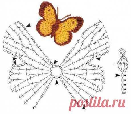 Несколько вариантов, как можно связать ажурных бабочек из категории Интересные идеи – Вязаные идеи, идеи для вязания
