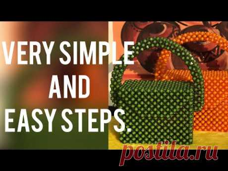 How to make a classy beaded bag in simple and easy steps