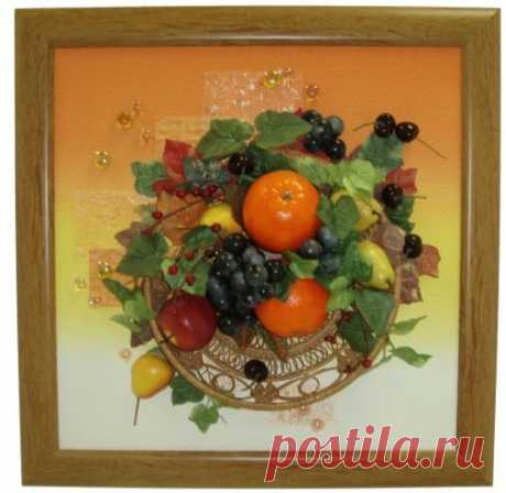Поделки из искусственных фруктов и ягод – красиво и вкусно