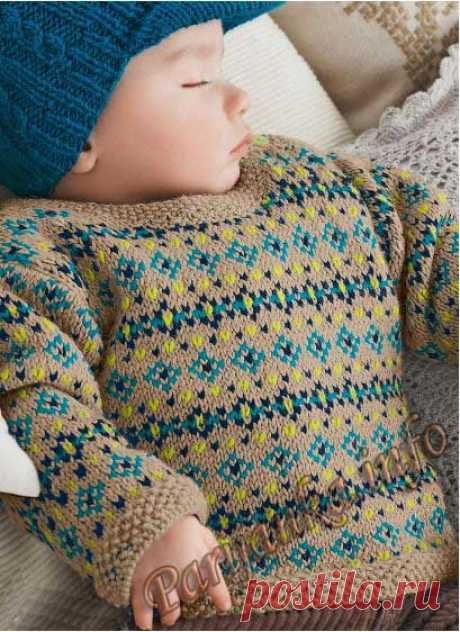 Пуловер с жаккаром (д) 790 Creations 2013/2014 Bergere de France №3675