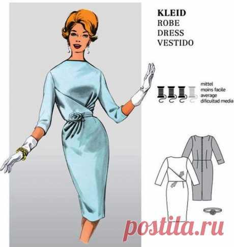 Платье с оригинальной драпировкой