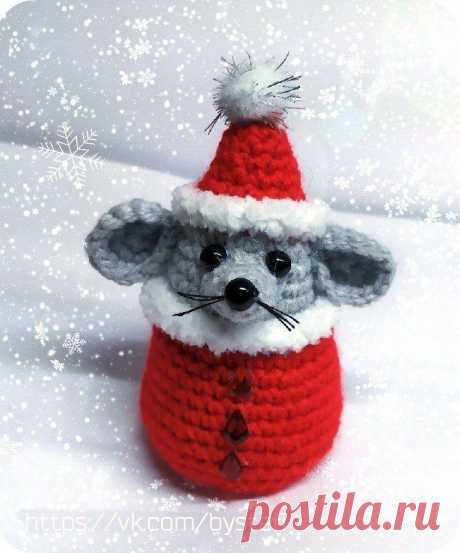 Мышонок Санта амигуруми | Схемы амигуруми. Мастер-класс