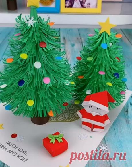 12 лучших Новогодних поделок из бумаги для детей. | Мама и малыш | Яндекс Дзен