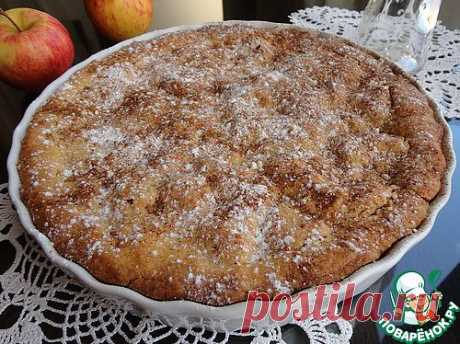Яблочно-клюквенный пирог из кукурузной муки - кулинарный рецепт