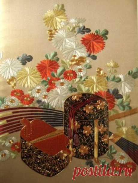 Японская вышивка в Великобритании от Harriet George Поделиться на Facebook