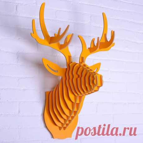 Голова оленя — декор для стены. Мастер-класс   oblacco
