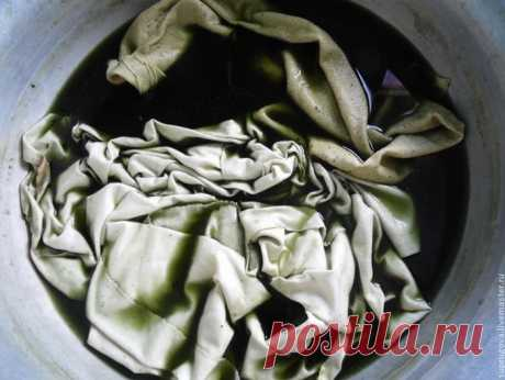 Окрашивание ткани природными красителями | all Dolls
