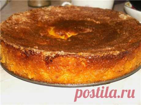 Манная запеканка с тыквой, медом и курагой - Сладкие пироги и кексы