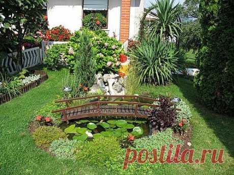 Декоративный водоем украсит любой участок. Даже если у вас есть совсем небольшой уголочек земли в распоряжении - воспользуйтесь этой возможностью для создания небольшого озерца.