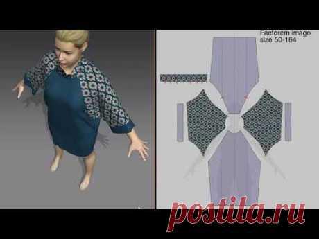 Обзор лекал разных размеров трикотажного платья построенных по методу Factorem imago