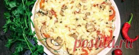 Пицца на курином фарше на сковороде - Диетический рецепт ПП с фото и видео - Калорийность БЖУ