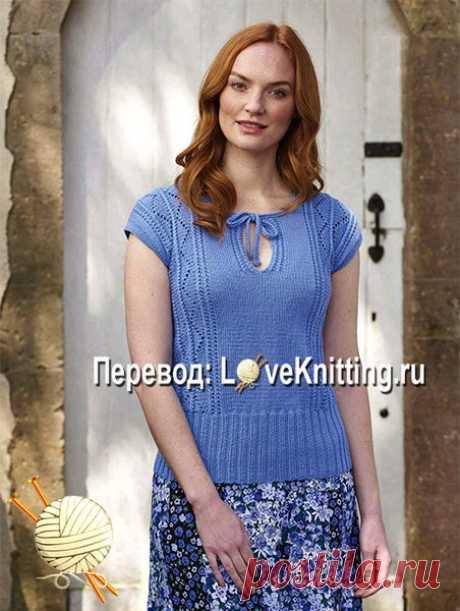 Голубой пуловер Felicity | ВЯЗАНИЕ - LoveKnitting.ru | Яндекс Дзен