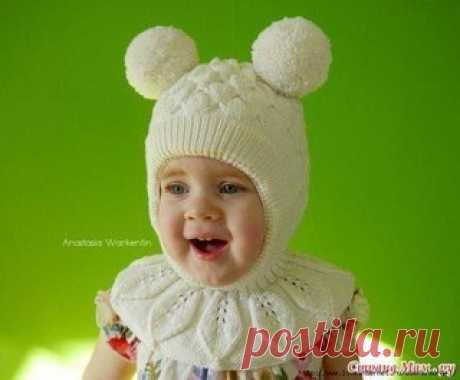 Шапка шлем для девочки  Идея шапки была найдена в интернете без описания, поэтому все расчеты и схемы сделаны и найдены самостоятельно. Узор «Бабочки» подходит больше для девочек, но его можно легко заменить. В описании имеется схематичное строение данного шлема. Изучив с десяток шапок-шлемов в интернете, их видов и способов вязания, выбрала для себя как обычно самый простой вариант: шапка вяжется практически единым полотном с одним швом. Используемые материалы:  Показать полностью…