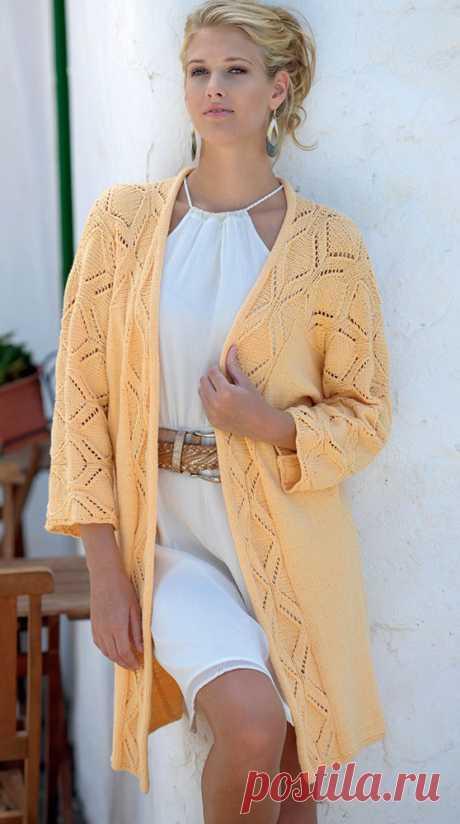 Женские жакеты-кимоно спицами – 6 схем вязания с описанием и видео