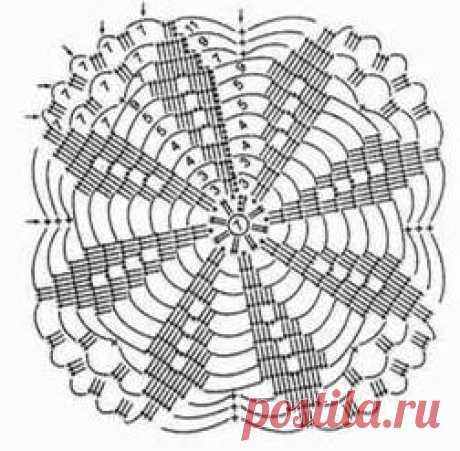 Красивая белая шаль из мотивов – Мир вязания и рукоделия