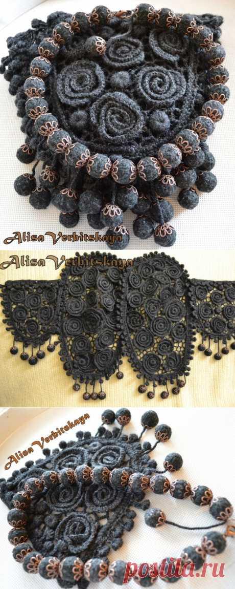 *АЛИСА*вставки из ирландского кружева (для рукавов-реглан,карманы,бусы).