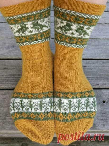 Женские носочки с жаккардовым узором. Только фото.