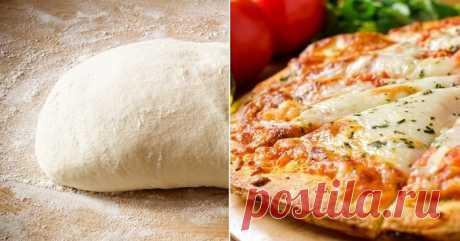Быстрое тесто для пиццы без дрожжей