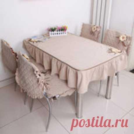 Сшить скатерть и чехлы на стулья (кухня,столовая)