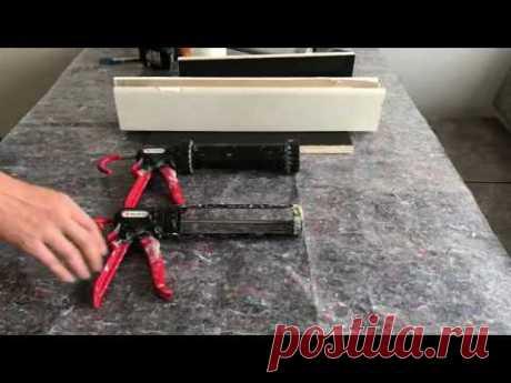 Как сделать ШОВ акриловым и/или силиконовым герметиком