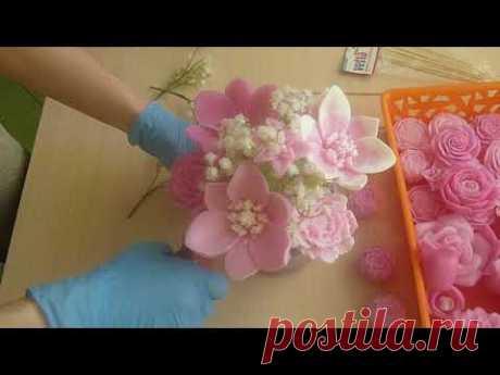 МК Букет из мыльных цветов.
